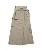 UN3D.(アンスリード)の古着「トレンチスカート」|ベージュ