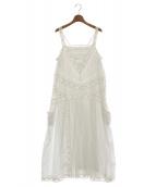 QUEENE AND BELLE(クイーンアンドベル)の古着「レースドレス」|ホワイト
