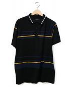 ROBERTO COLLINA(ロベルト コリーナ)の古着「ニットポロシャツ」|ブラック