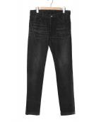 ripvanwinkle(リップヴァンウィンクル)の古着「テーパードスリムジーンズ」|ブラック