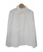 theory luxe(セオリーリュクス)の古着「比翼長袖シャツ」|ホワイト
