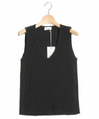 The Newhouse(ザ ニューハウス)の古着「THERMAL V NECK TOP」|ブラック
