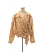 FUMIKA UCHIDA(フミカ ウチダ)の古着「カシュクールシャツ」|ヌードピンク