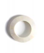 8UEDE(スウェード)の古着「PATCH BONE CUFF  Edge Shape」|ホワイトマット