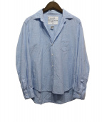 Frank&Eileen(フランクアンドアイリーン)の古着「スキッパーシャツ」|ライトブルー