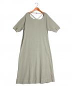 R JUBILEE(アール ジュビリー)の古着「Back-open Dress」 オリーブ