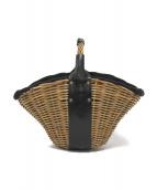 ebagos(エバゴス)の古着「1本手 オイルショルダー 紅籐」|ブラック