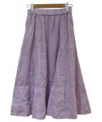 FRAMeWORK(フレームワーク)の古着「セイヒンゾメフレアーギャザースカート」|ラベンダー