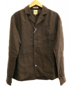 sanca(サンカ)の古着「オープンカラーシャツジャケット」|ブラウン