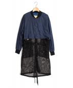 TOGA PULLA(トーガ プルラ)の古着「ナイロンメッシュコート」 ネイビー
