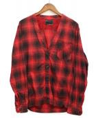 n(n) by NUMBER (N)INE(エヌエヌバイナンバーナイン)の古着「チェックシャツ」|レッド