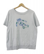PORTER CLASSIC(ポータークラシック)の古着「半袖スウェット」|スカイブルー