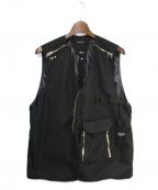PORTVEL(ポートヴェル)の古着「19SS VEST ETA PROOF」 ブラック