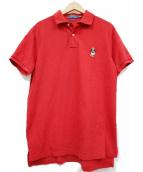 POLO RALPH LAUREN(ポロラルフローレン)の古着「ポロベア刺繍ポロシャツ」|レッド