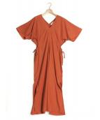 SAYAKA DAVIS(サヤカデイヴィス)の古着「サイドギャザーワンピース」|オレンジ