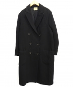 forte forte(フォルテフォルテ)の古着「ダブルチェスターコート」|ブラック
