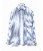 Porter Classic(ポータークラシック)の古着「ストライプシャツ」 ブルー×ホワイト