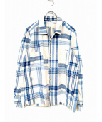 Porter Classic(ポータークラシック)の古着「オープンカラージャケット」 ブルー×ホワイト