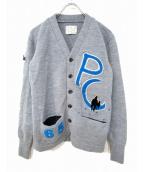 Porter Classic(ポータークラシック)の古着「レタードカーディガン」|グレー