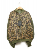 KAWI JAMELE(カウイジャミール)の古着「キルティング袖MA-1ジャケット」