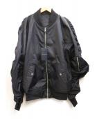 KAWI JAMELE(カウイジャミール)の古着「ロゴ入りMA-1ジャケット」 ブラック