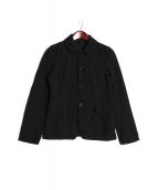 BLACK COMME des GARCONS(ブラックコムデギャルソン)の古着「ストライプ縮織ジャケット」|ブラック