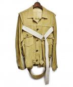 MIHARA YASUHIRO(ミハラヤスヒロ)の古着「スウェードレザージャケット」|キャメル