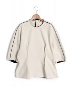 BLAMINK(ブラミンク)の古着「ペプラムカットソー」 ナチュラル