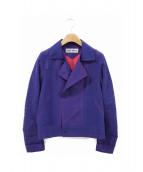 ISSEY MIYAKE(イッセイミヤケ)の古着「パンチングジャケット」|ブルー