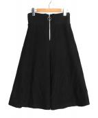 muller of yoshiokubo(ミュラーオブヨシオクボ)の古着「ハイウエストリブスカート」|ブラック