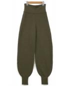 FUMIKA UCHIDA(フミカ ウチダ)の古着「ニットパンツ」|オリーブ