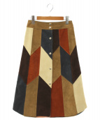 FUMIKA UCHIDA(フミカウチダ)の古着「スエードパッチワークスカート」