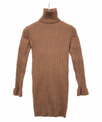 FUMIKA UCHIDA(フミカウチダ)の古着「ラメタートルニット」|ブラウン