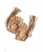FUMIKA UCHIDA(フミカ ウチダ)の古着「TASSEL FINGERLESS GLOVES」|ベージュ