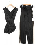 DES PRES(デプレ)の古着「アセテートレーヨンセットアップ」|ブラック