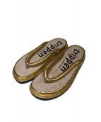 Trippen(トリッペン)の古着「トングサンダル」|ゴールド