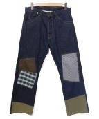 CDG JUNYA WATANABE MAN(コムデギャルソン ジュンヤワタナベ)の古着「パッチワークデニムパンツ」|インディゴ