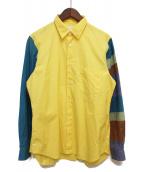 COMME des GARCONS SHIRT(コムデギャルソンシャツ)の古着「切替シャツ」|イエロー