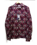 BAGUTTA(バグッタ)の古着「アフリカンプリントシャツ」|ネイビー