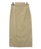 ebure(エブール)の古着「ビスコツイルタイトロングスカート」 ベージュ