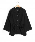 Y's(ワイズ)の古着「ウールギャバカット加工ジャケット」|ブラック