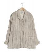 ISSEY MIYAKE(イッセイミヤケ)の古着「シワ加工ジャケット」|ベージュ