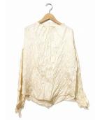 ISSEY MIYAKE(イッセイミヤケ)の古着「シワ加工シャツ」|アイボリー