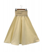 Cathrine Hammel(カトリーネハメル)の古着「スモックスカート」|アイボリー