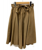MS GRACY(エムズグレイシー)の古着「ベルト付スカート」|ブラウン