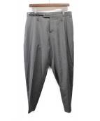 Dior HOMME(ディオールオム)の古着「ベルト付スラックス」|グレー