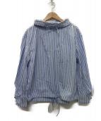 J.W.ANDERSON(ジェイダブリューアンダーソン)の古着「コットンストライプドロストシャツ」|ブルー