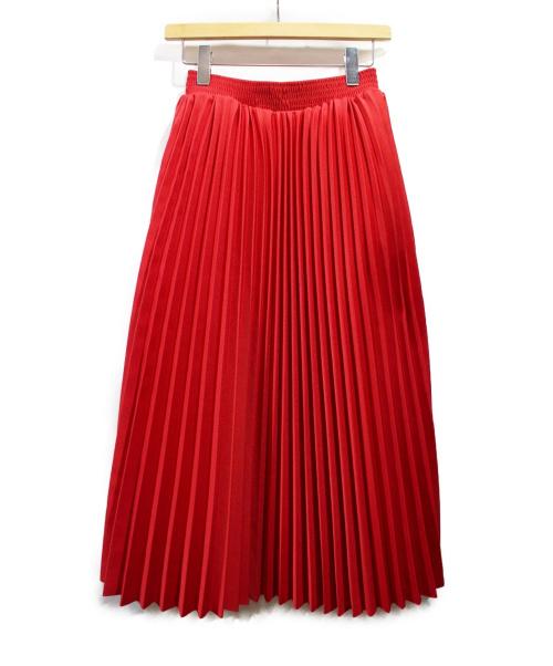 BALENCIAGA(バレンシアガ)BALENCIAGA (バレンシアガ) プリーツスカート レッド サイズ:36の古着・服飾アイテム