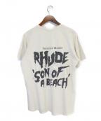 RHUDE(ルード)の古着「Tシャツ」|ベージュ