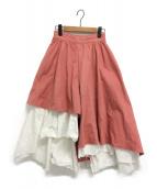 Ameri VINTAGE(アメリビンテージ)の古着「カーテンフレアパンツ」|コーラルピンク